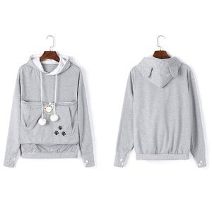 Sweaters - Cat carry hoodie